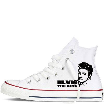 elvis presley custom converse all star mens the king rock roll | eBay