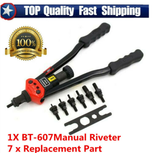 Auto Riveting Hand Tool Nut Gun Auto Riveter Nut Heavy Hand Tools M3//M12 BT-607