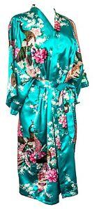 Kimono-robe-long-16-colors-Premium-Peacock-bridesmaid-bridal-shower-womens-gift
