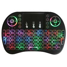 Colorful Backlit 2.4GHz Wireless Keyboard Touchpad Mouse Handheld Remote Q1F6