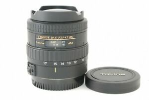Tokina AT-X DX FishEye 10-17mm F/3.5-4.5 for Canon Very Good!! from Japan 21637