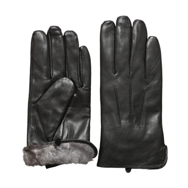 Men's Genuine Leather Gloves Black