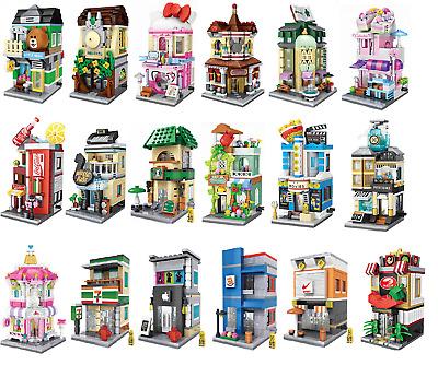 City Street Creator Market BBQ Tricycle Tutu Store Building Block Brick New