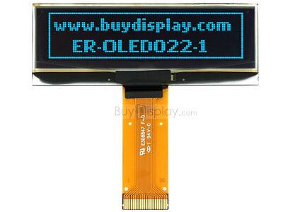"0.91/"" Serial SPI 128x32 Blue OLED Display Module,SSD1306,2.8V w//Tutorial"