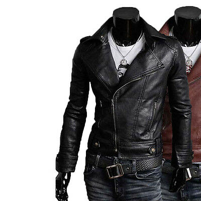 ★Giacca Giubbotto Uomo in di PELLE 100/% Men Leather Jacket Veste Homme Cuir R56b