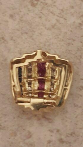 Details about  /2 Ct Round Ruby Sapphire Emerald Diamond Women/'s Pendant 14K Yellow Gold Finish