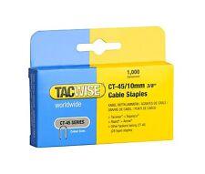 Tacwise ct45 10 Mm Cable Grapadora De Grapas, 1,000 Por Caja, se adapta a mayoría Cable tackers