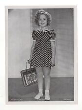 "Shirley Temple 1937 Union Dresden Film Star Series 16 5""X7"" Cigarette Photo Card"