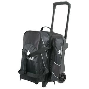 Brunswick Edge Premium 3 Ball Bowling Roller Bag Color White//Black