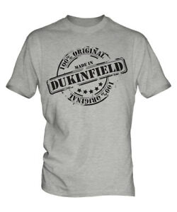 MADE IN DUKINFIELD MENS T-SHIRT GIFT CHRISTMAS BIRTHDAY 18TH 30TH 40TH 50TH 60TH