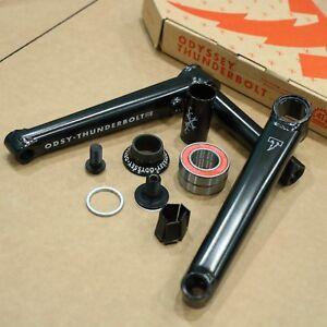 ODYSSEY THUNDERBOLT BLACK LHD 175MM 2-PIECE BMX BICYCLE CRANK