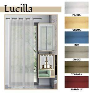 Tenda Arredo Trasparente Per Finestra E Porta Finestra 6 Colori Mod Lucilla Ebay