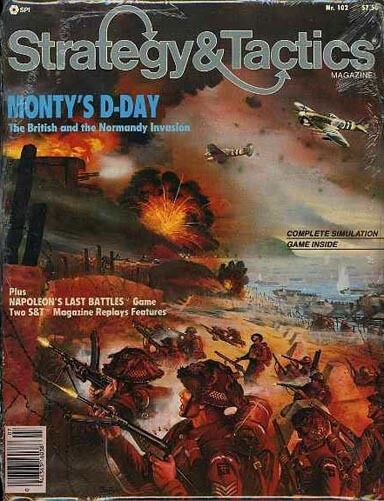 MONTY'S DAY NORMANDY INVASION SEALED SPI Game of Strategy & Tactics Magazine 102