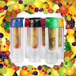 Fruit Infuser Water Bottle Detox Juice Flavour Infusing Health Drink BPA Free