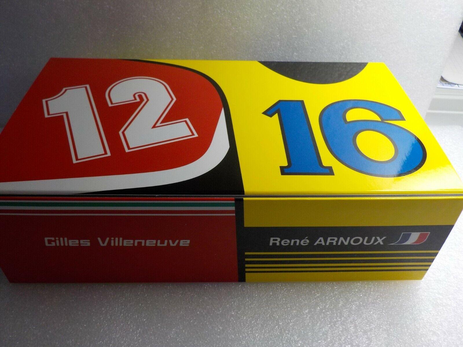 Ferrari 312t4-RENAULT rs12 VILLENEUVE-ARNOUX, GP France 1979 1 43 Limit No. 107