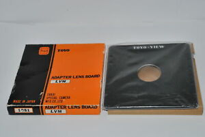 Unused-Toyo-View-Adapter-Lens-Board-158x158mm-Copal-1-41-6mm-LVM-1051-for-4x5