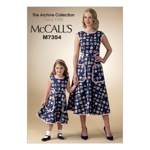 McCalls motivi di sezione m7354-Abito-vestito grembiuli 50er anni