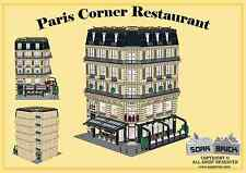 LEGO custom modular building instruction - Paris Corner Restaurnt
