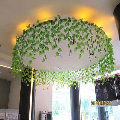 DIY Home Decor Artificial Ivy Grape Leaf Garland Plants Vine Fake Foliage Flower