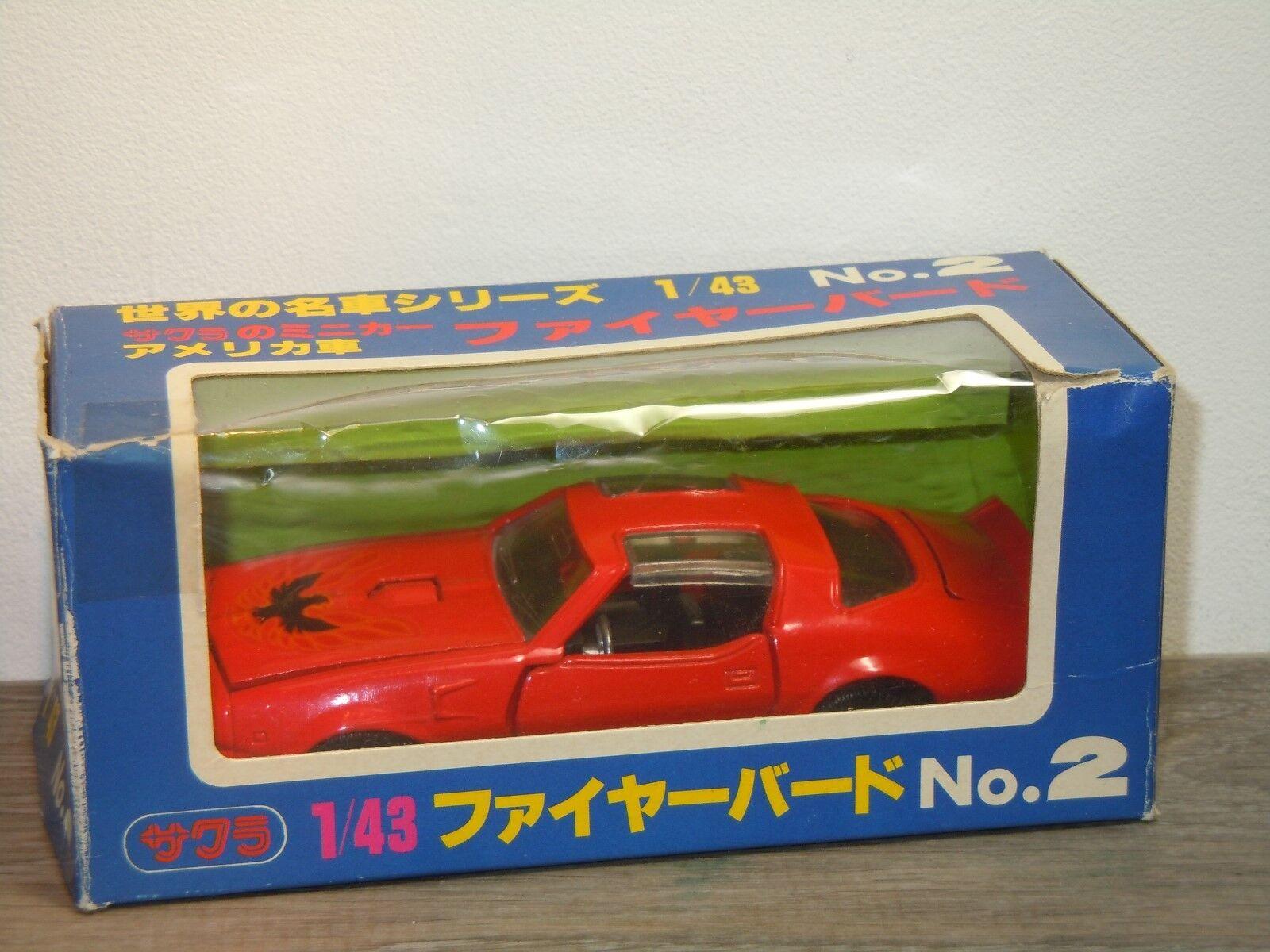 Pontiac Fire Bird - KK Sakura 2 Japan 1 43 in Box 34555