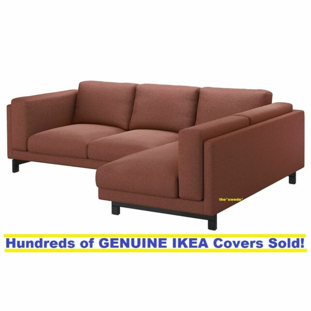 Marvelous Ikea Nockeby Sofa With Chaise Right Cover Slipcover Tallmyra Rust New Sealed Ocoug Best Dining Table And Chair Ideas Images Ocougorg