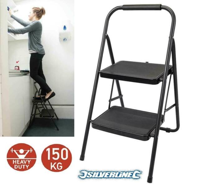 Two Step Folding Stool Household Portable 2 Steps Mini Ladder Foldable Kitchen