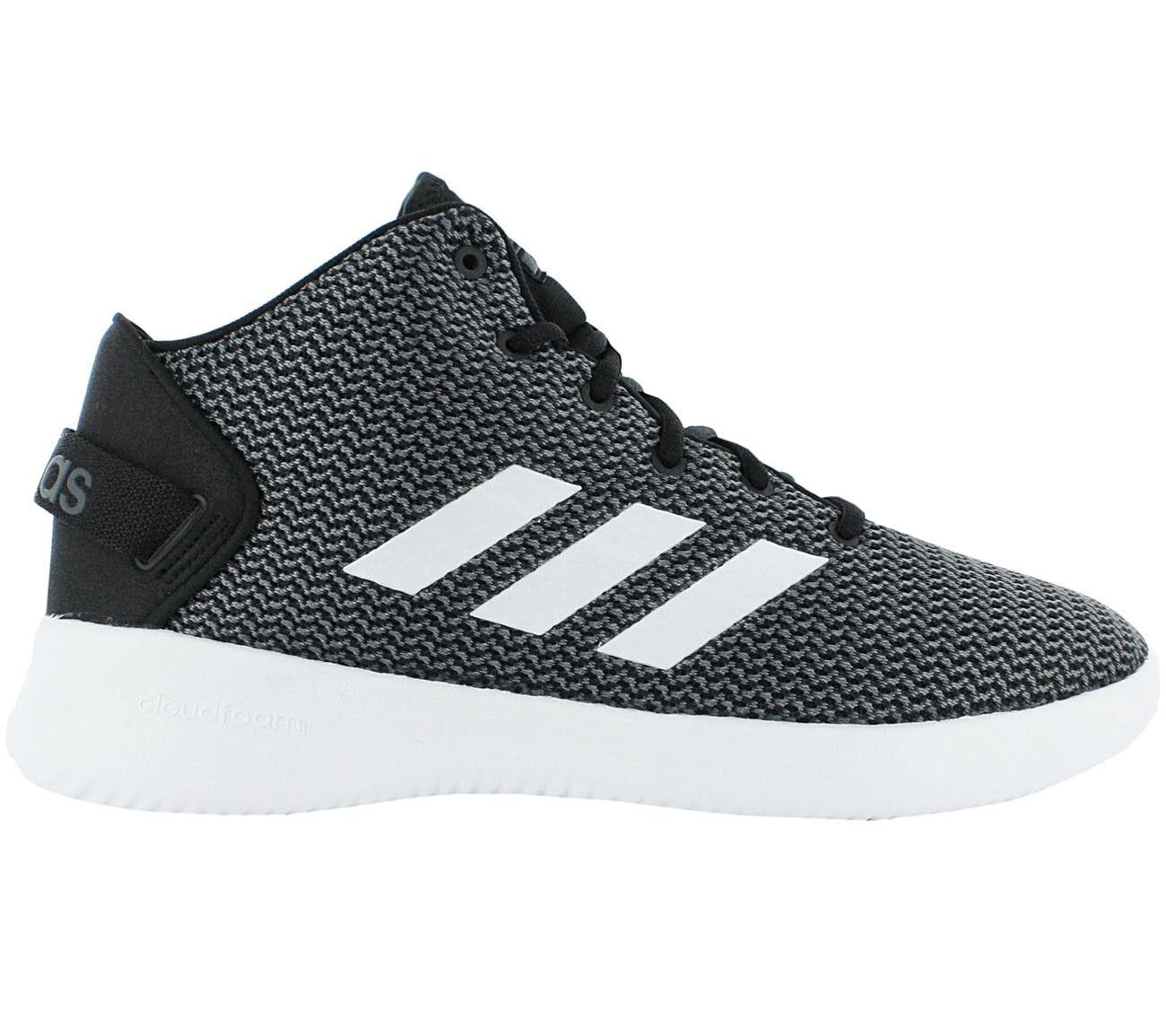 adidas Herren Sneaker Cloudfoam Refresh Mid CF Schuhe Schwarz Freizeit BB9905