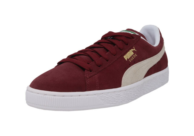46f99b14fbaf PUMA Suede Classic Cabernet Burgundy Leather Lace Up Sneakers Fashion Men  Shoes