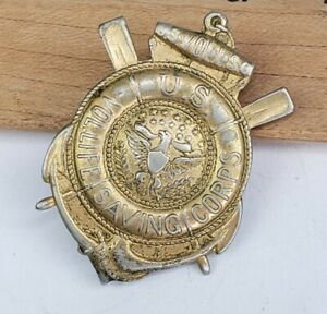 RARE Vintage US Volunteer Lifesaving Corps Named Badge Pin - Newark NJ