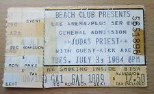 1984 JUDAS PRIEST KICK AXE LAKELAND CONCERT TICKET STUB DEFENDERS OF THE FAITH