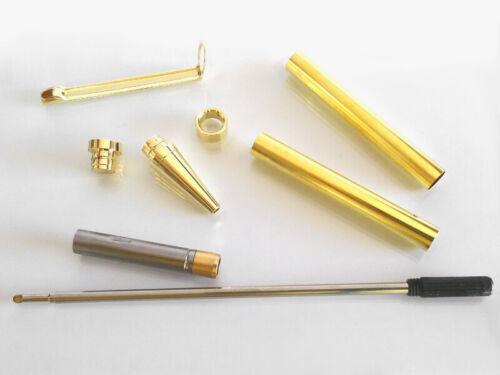 KIT PENNA A SFERA Slimline-ORO gli sbozzi PEN Blanks Pen Kit