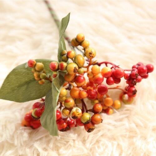 DIY Christmas Fruit Berry Artificial Flower Bouquet Home Party Decoration