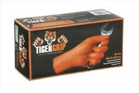 Tiger Grip 7 Mil Superior Grip Orange Nitrile Gloves - Large,100 Count, New, Fre on sale