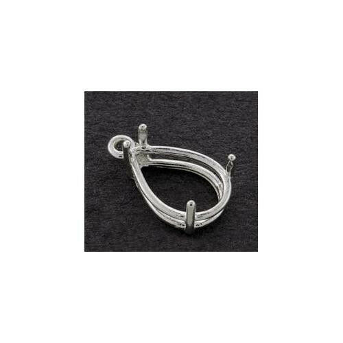 (5x3mm-30x22mm) Pear Shape Sterling Silver Dangle Setting