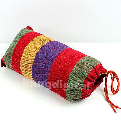 Outdoor Camping Travel Beach Fabric Swing Bed Portable Canvas Garden Hammock 1PC