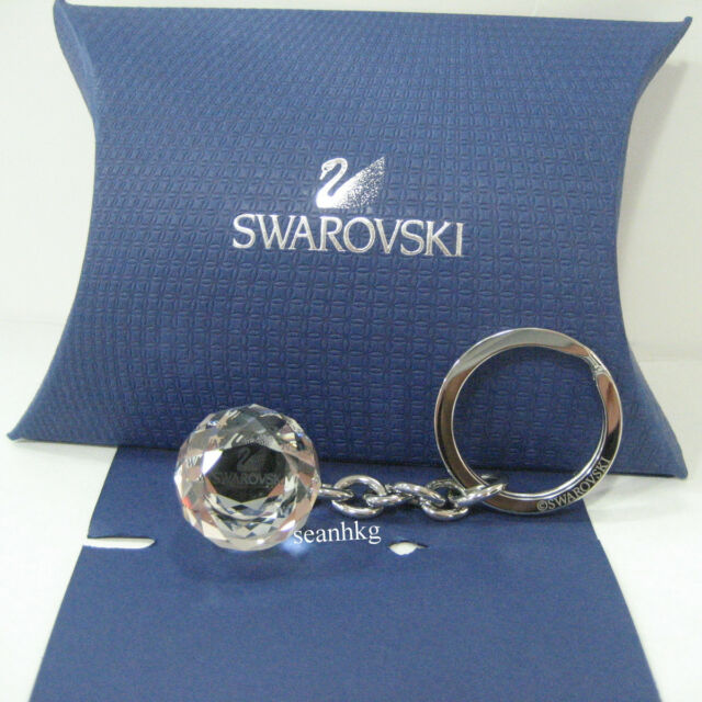 Swarovski 623413 ( 5430348 ) Crystal Ball Key Ring Holder SWAN LOGO  Authentic a6abcfdd2