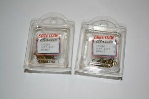 2 Eagle Claw Spring Bronze Soft Dough Bait Treble Fish Hooks Size 8 374 Catfish