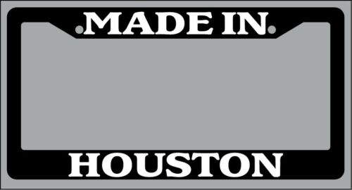 Black License Plate Frame Made in Houston Auto Accessory 1372