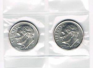 2017 P/&D Roosevelt Dimes from BU Bank Rolls ~ FREE FAST S/&H