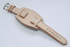20mm-Military-Style-Genuine-Natural-Leather-Bund-Strap