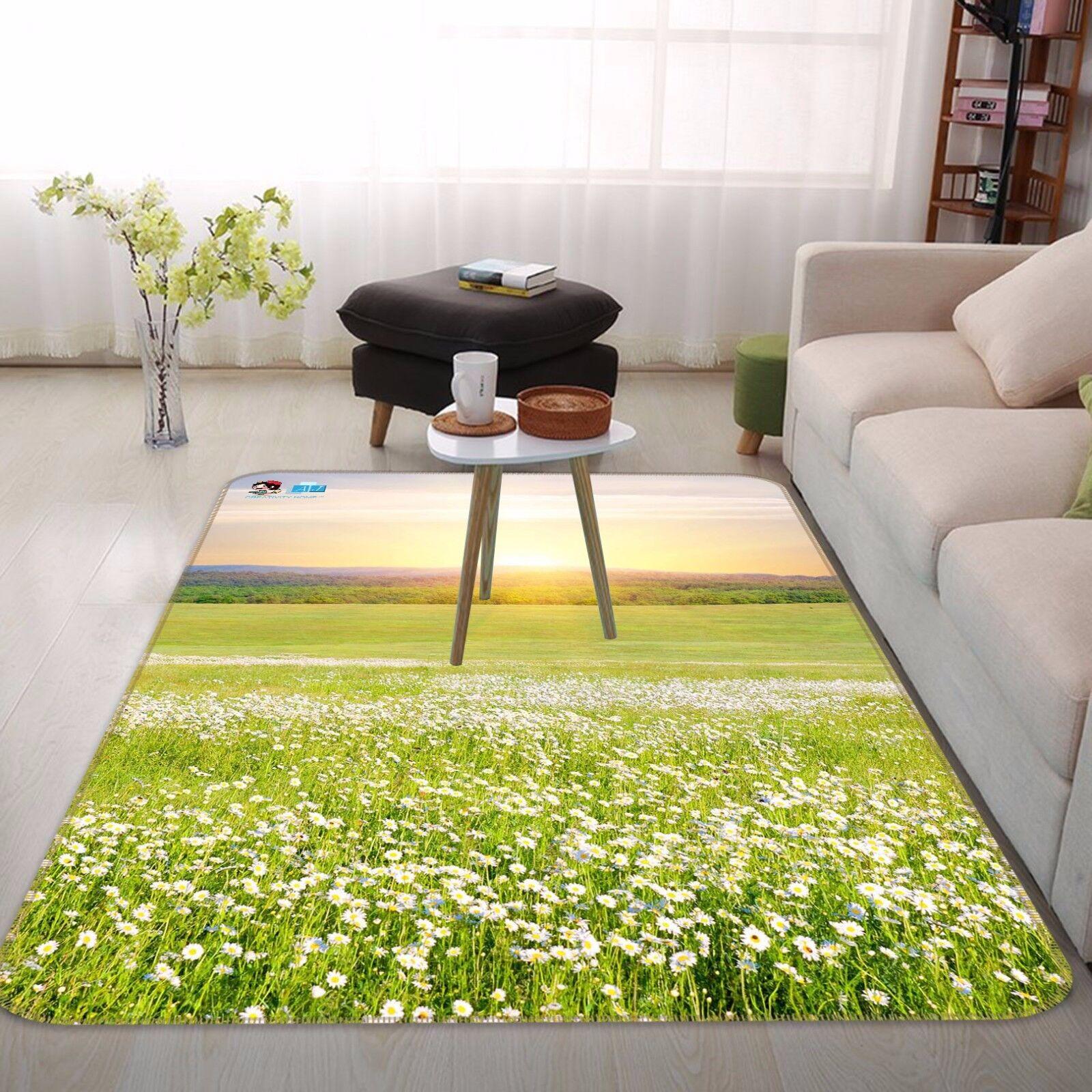 3D Weiß Petal Field 4 Non Slip Rug Mat Room Room Room Mat Quality Elegant Photo Carpet UK 341a1e