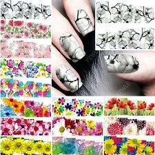 50 sheets mixed designs water transfer nail art decorations stickers decals lot