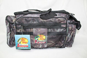 Bass Pro Shops Extreme Qualifier 370 Camo Tackle Bag Multi-Color GG8 NWT