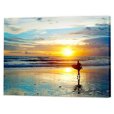 ART PRINT POSTER SPORT WAVE SEA SURF BEACH SUNRISE SURFERS SURFING NOFL0451