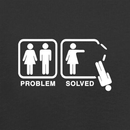 Joke Hoodie // Hoody Feminist Divorce Single Problem Solved No Man