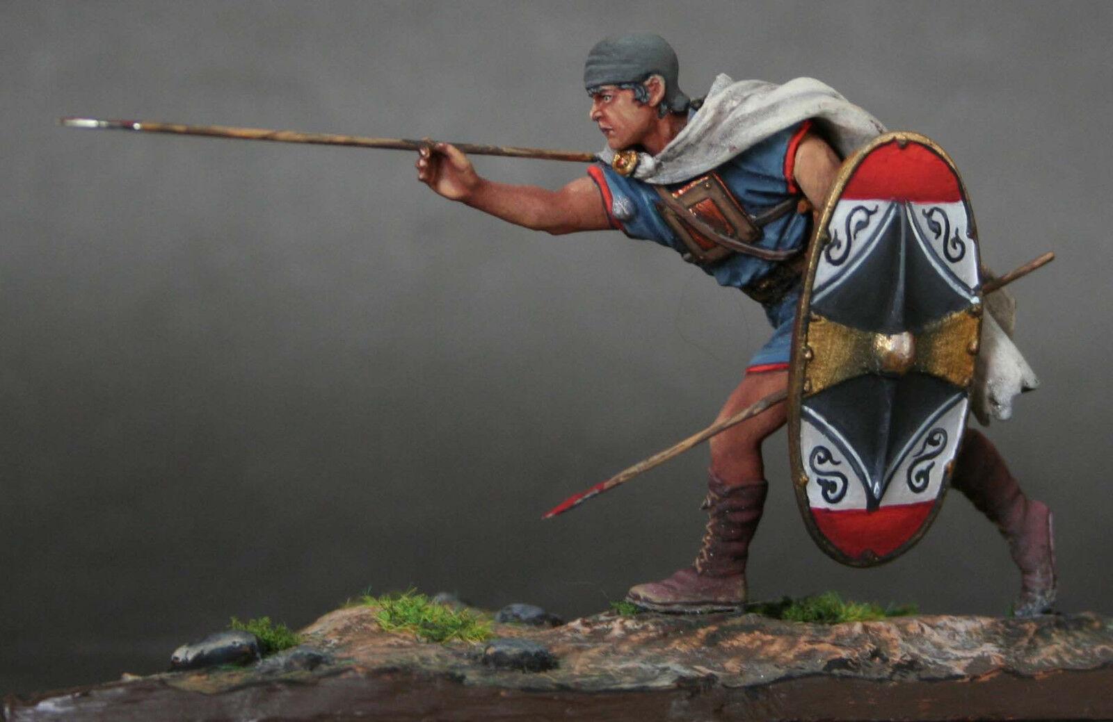 Tin Soldier, art, Iberian Warrior with dart, Carthage, Punic Wars, Wars, Wars, 54 mm 950c39