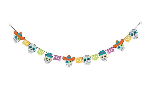 day of the dead mexican halloween  ~60 inch layered felt garland