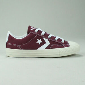 5aaa1755e8da08 Image is loading Converse-Star-Player-Ox-Shoe-Trainers-in-Burgundy-