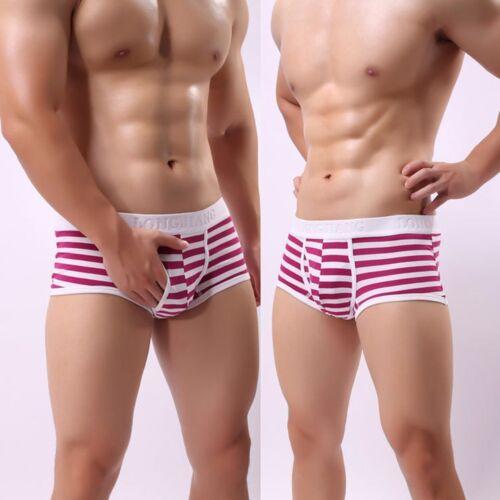 Men Breathable Soft Cotton Underwear Boxer Briefs Bulge Pouch Shorts Underpants