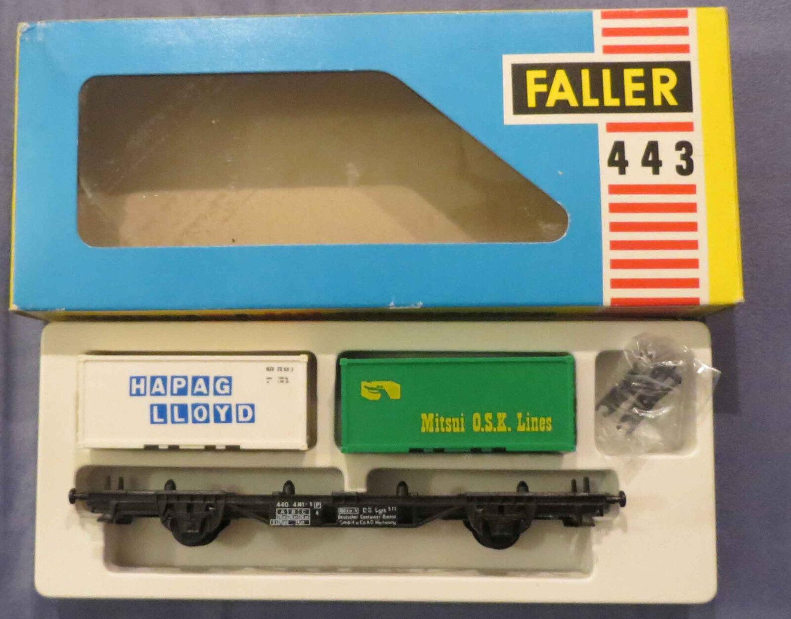 Faller Ams 443 Vagoni con Container in Confezione Raro